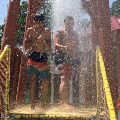 Boys at water park