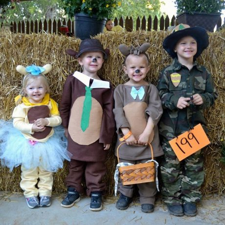 Halloween kids as characters