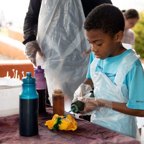 Tye Dye shirt making